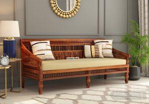 Buy Alanis 3 Seater Wooden Sofa