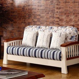 Latest Design Two Seater Teak Wooden Sofa