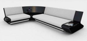 Modern wooden sofa design