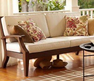 Solid Wood Mayor Sofa Set